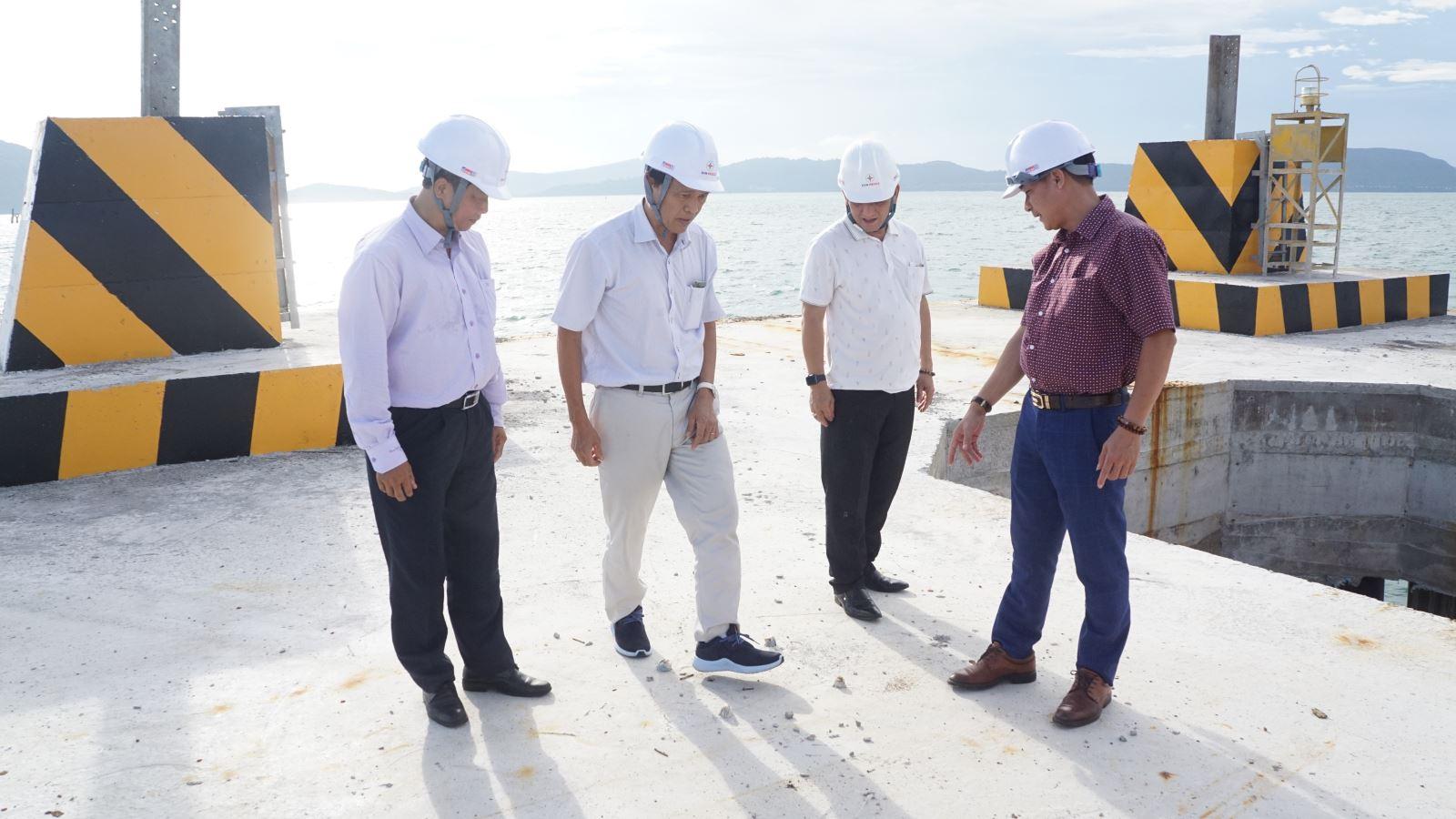 EVNSPC kiểm tra tình hình thực hiện dự án đường dây 220kV Kiên Bình - Phú Quốc