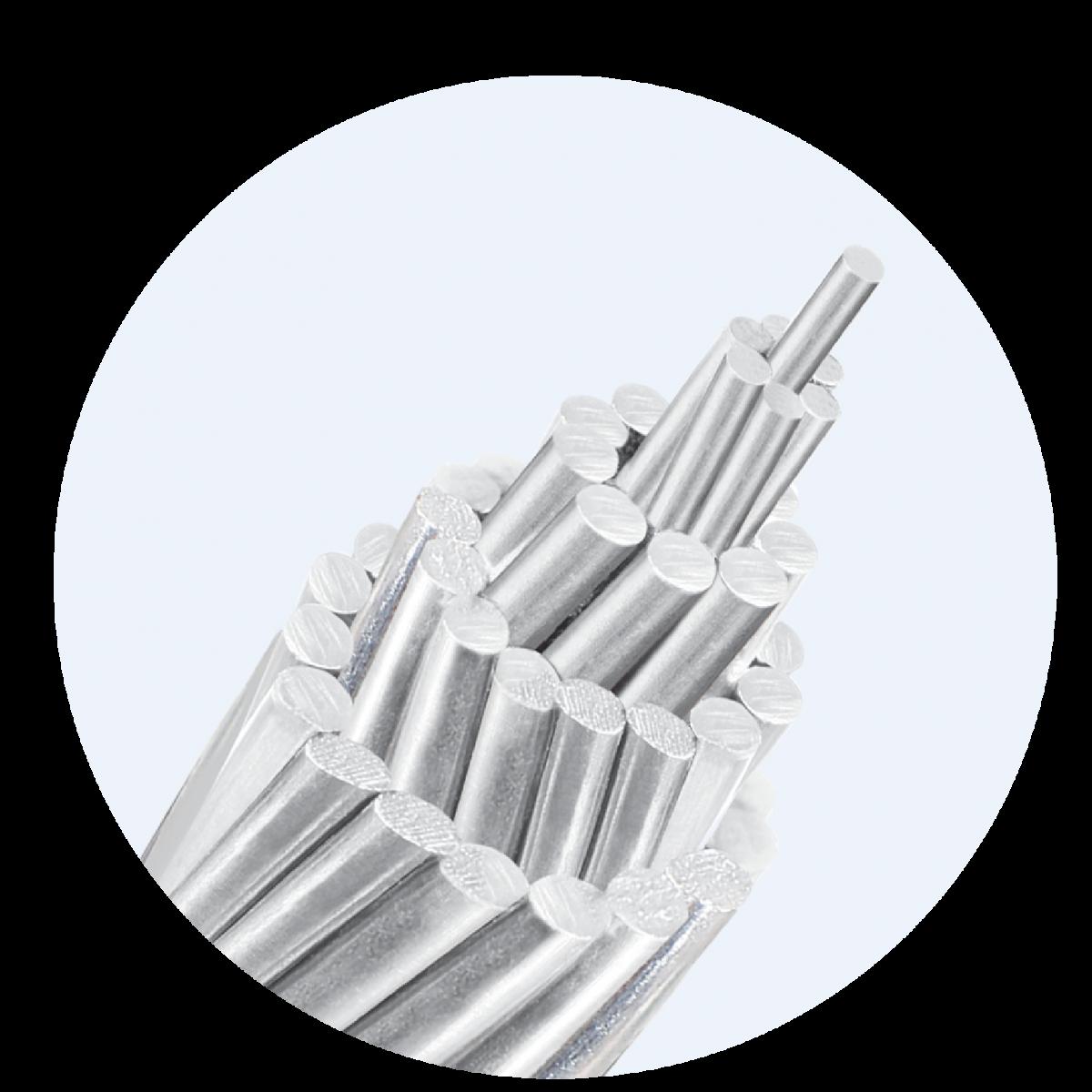 Aluminum alloy steel core wire