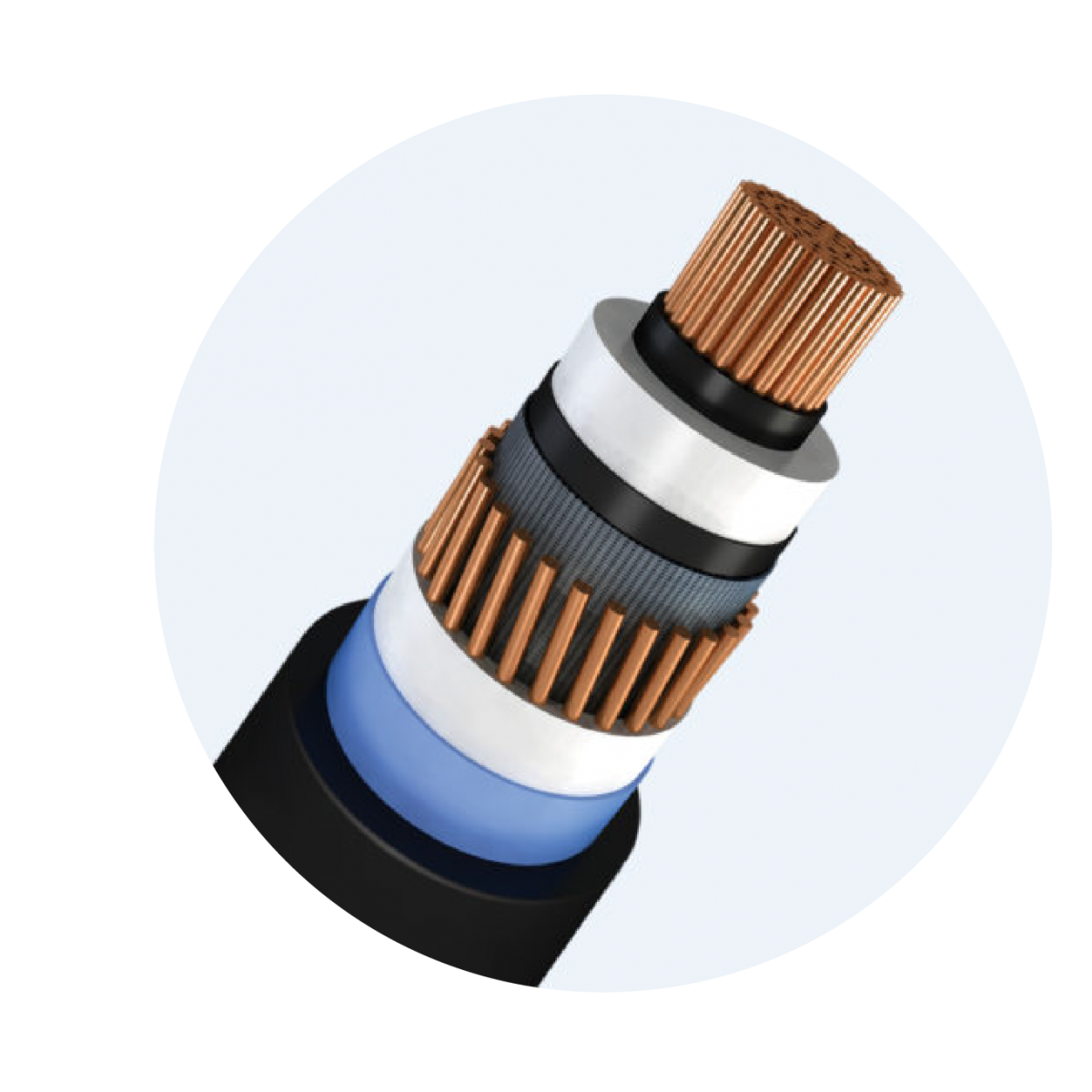 High voltage cable 38/66 (72.5) kV