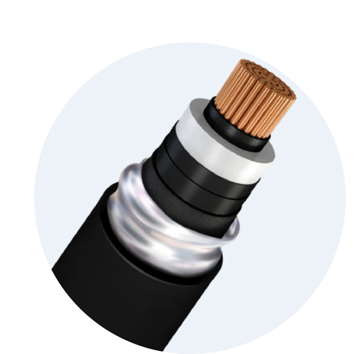 High voltage cable 64/110 (123) kV